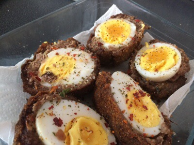 Venison And Duck Egg Scotch Eggs Fiesta Friday Cooking